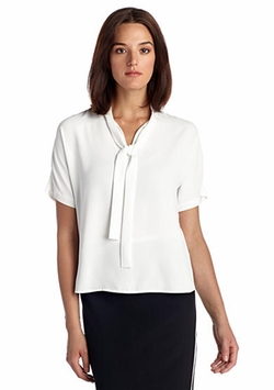 Belk - Tie-Neck Short Dolman Sleeve Blouse