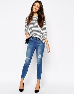 Oasis - Isabella Ripped Skinny Jeans