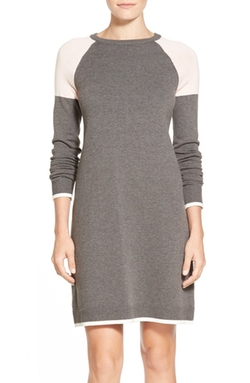 Eliza J  - Colorblock A-Line Sweater Dress