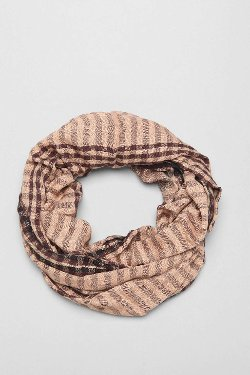 Urban Outfitters - Neutral Plaid Eternity Scarf