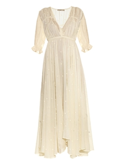 Mes Demoiselles - Louise Embroidered Cotton-Gauze Dress