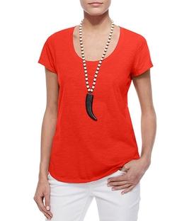 Eileen Fisher - Short-Sleeve Scoop-Neck Tee Shirt