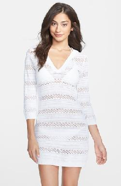 Tommy Bahama - Hooded Pointelle Knit Cover-Up