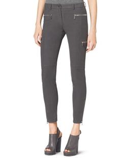 Michael Kors Collection   - Stretch Zipper Skinny Pants