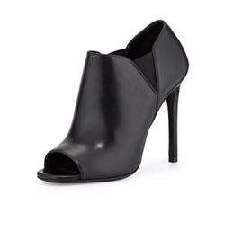 Prada - Open-Toe Leather High-Heel Booties