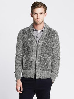 Banana Republic - Heritage Shawl-Collar Zip Cardigan