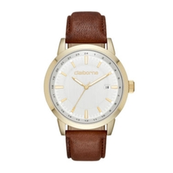 Claiborne - Brown Leather Strap Watch