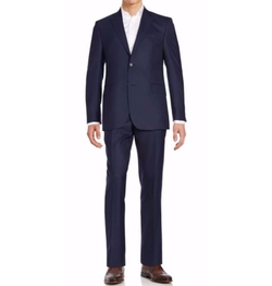 Saks Fifth Avenue  - Regular-Fit Solid Wool Suit