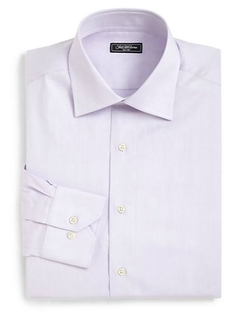 Saks Fifth Avenue Collection  - Classic-Fit Cotton Twill Dress Shirt