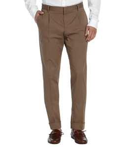 Gucci - Cotton Pleated Front Dress Pants