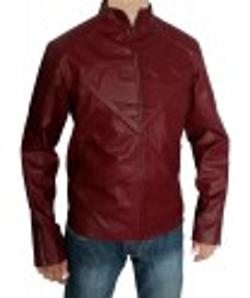 Desert Leather - Superman Smallville Red Leather Jacket