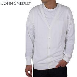 John Smedley - Sea Island cotton cardigans white
