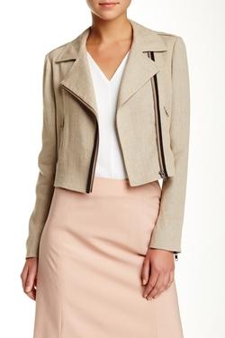 Theory - Sanda Cropped Linen Jacket