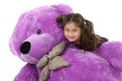 DeeDee Cuddles  - Life Size Lilac Plush Teddy Bear 55 inch