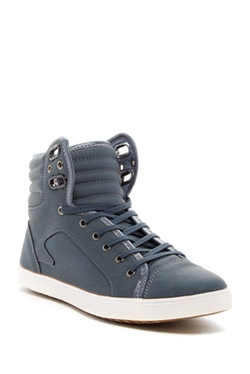 Franco Vanucci - High Top Faux Leather Sneakers