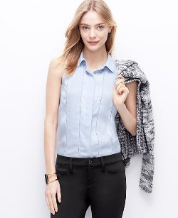 Ann Taylor - Perforated Sleeveless Blouse