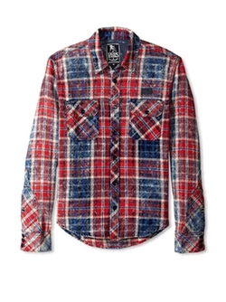 PRPS Goods & Co.  - Hydra Plaid Flannel Shirt