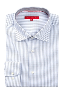 Report  - Long Sleeve Shadow Check Dress Shirt