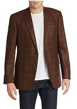 Armani Collezioni - Windowpane Cashmere & Silk Sportcoat