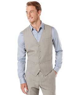 Perry Ellis  - Slim-Fit Striped Travel Luxe Vest
