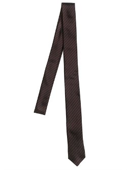 Saint Laurent  - Micro Striped Silk Jacquard Tie