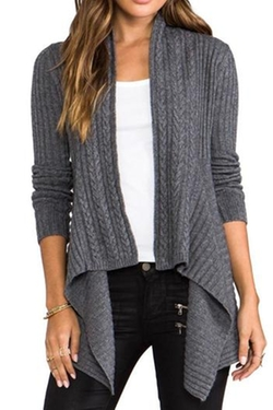 Autumn Cashmere - New Rib Drape Cardigan