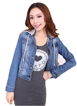 Easy Vintage -  Denim Jean Hoodie Jacket
