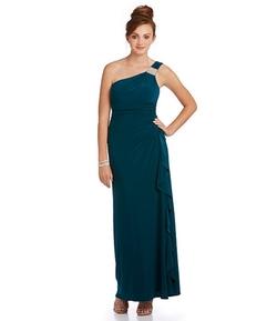 Blondie Nites - Stone Embellished One-Shoulder Gown
