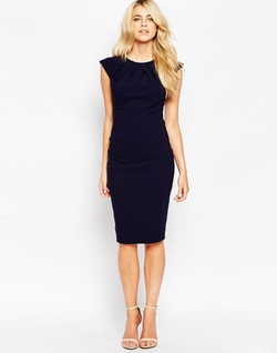 City Goddess  - Cap Sleeve Midi Dress