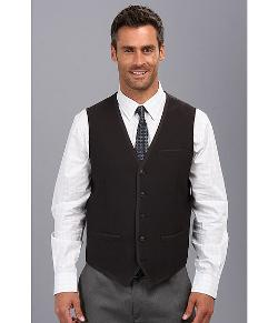 Perry Ellis - Slim Solid Text Vest