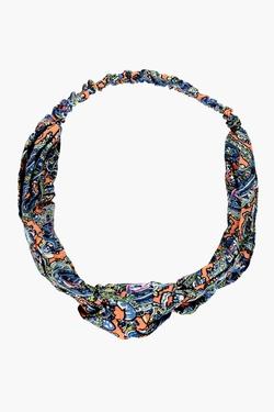 Boohoo  - Ava Aztec Print Knot Turban Headband