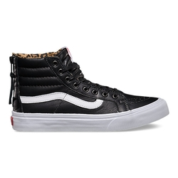 Vans - Leather Sk8-Hi Slim Zip Sneakers