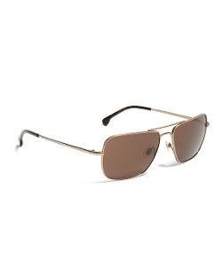 Brooks Brothers - Taupe Metal Navigator Stripe Arm Sunglasses