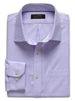 BANANA REPUBLIC - Classic-Fit Non-Iron Textured Shirt