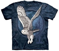 The Mountain  - Snow Owl Moon Adult T-Shirt