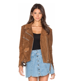 Understated Leather - X Revolve Western Suede Moto Jacket