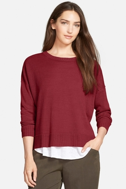 Eileen Fisher  - Boxy Knit Organic Linen Sweater