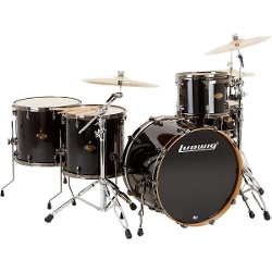 Ludwig - Shell Pack Transparent Black Drum Set