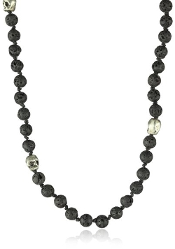 M.Cohen Handmade Designs - Beaded Lava Stone Bead Necklace