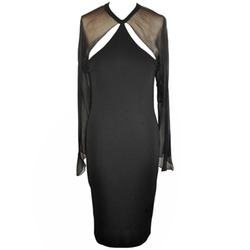 CD Greene - Silk Jersey & Silk Chiffon Cocktail Dress