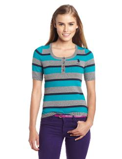 U.S. Polo Assn.  - Juniors Striped Henley Shirt