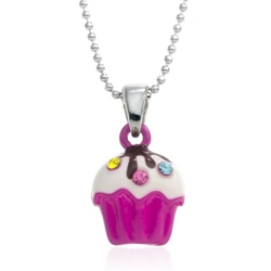 Pammy J - Mini Cupcake Pendant Necklace