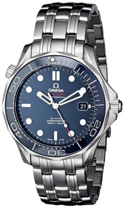 Omega - Seamaster Analog Display Silver-Tone Watch