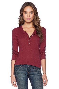 Daftbird - Slub Henley Long Sleeve Shirt