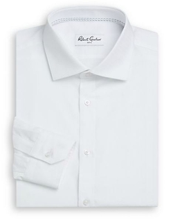 Robert Graham  - Solid Cotton Dress Shirt