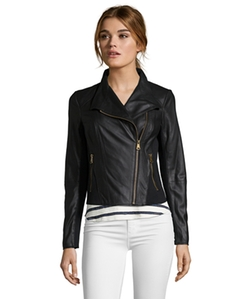 Marc New York  - Leather Asymmetrical Zip Front Motorcycle Jacket