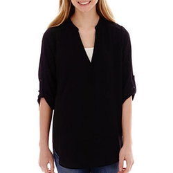 Decree - Roll Tab Blouse