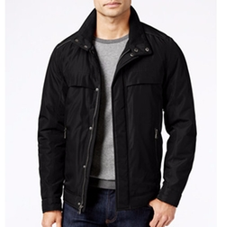 Perry Ellis - Oxford Zip-Front Jacket