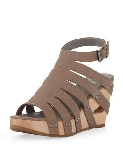 Eileen Fisher  - Lotus Strappy Wedge Sandal
