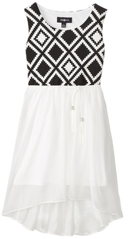 Amy Byer - Sleeveless Knit To Woven Dress